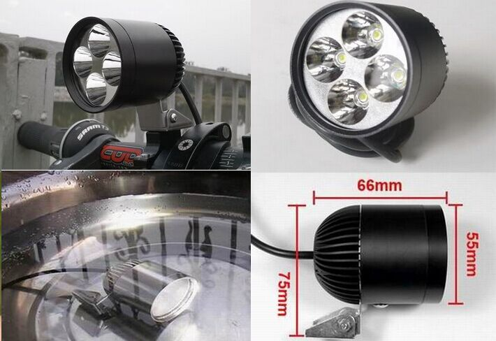 Free ship 15W LED CREE led motorcycle headlight lamp motorcycle wind light high power motorcycle led light spot led motorcycle(China (Mainland))