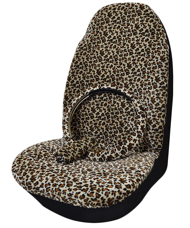 premium quality classic car seat covers universal plush leopard accessories cover steering wheel. Black Bedroom Furniture Sets. Home Design Ideas