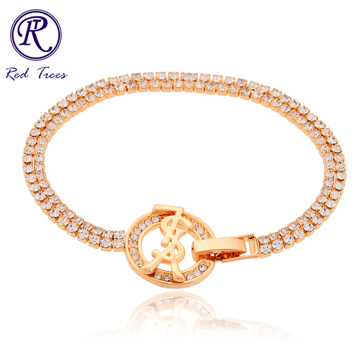 Fashion Ladies Friendship Bracelets Gold Created Diamond Women - Red Trees Jewelry Store store