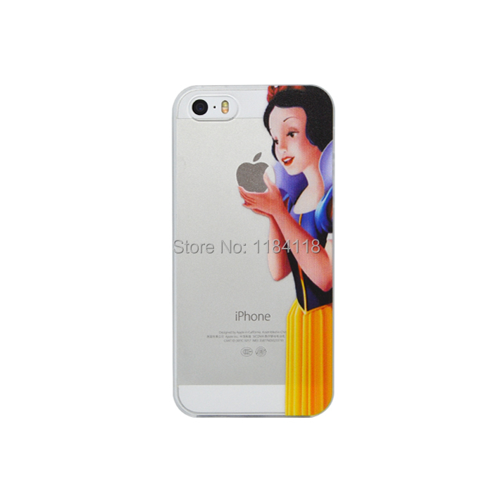 Hot Transparent Hand Grasp the Logo Snow White Case For iphone 4 4s 5 5s 5c(China (Mainland))