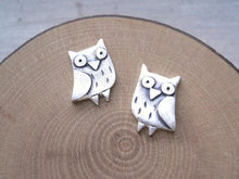 MIn 1pc Gold/ Silver Plated 2016 New Arrival owl jewelry owl Stud Earrings for Women Animal bird Stud Earrings Gifts ED068(China (Mainland))