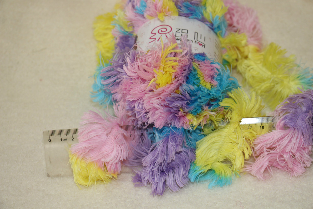 100% polyester new style warm feather fancy yarn for hand ...