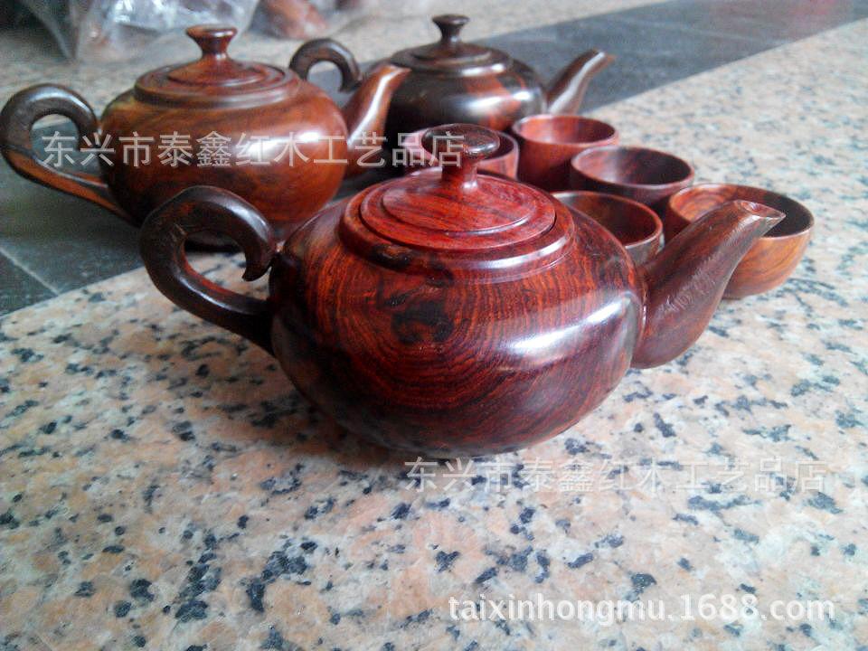 Wholesale Set mahogany wood teapot teacup teacups teapot rosewood system(China (Mainland))