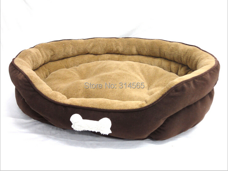 Large Dog Bed Golden Satsuma Kennel Big Sofa Cake Suede Doghouse Cotton Mat Pet Supplies