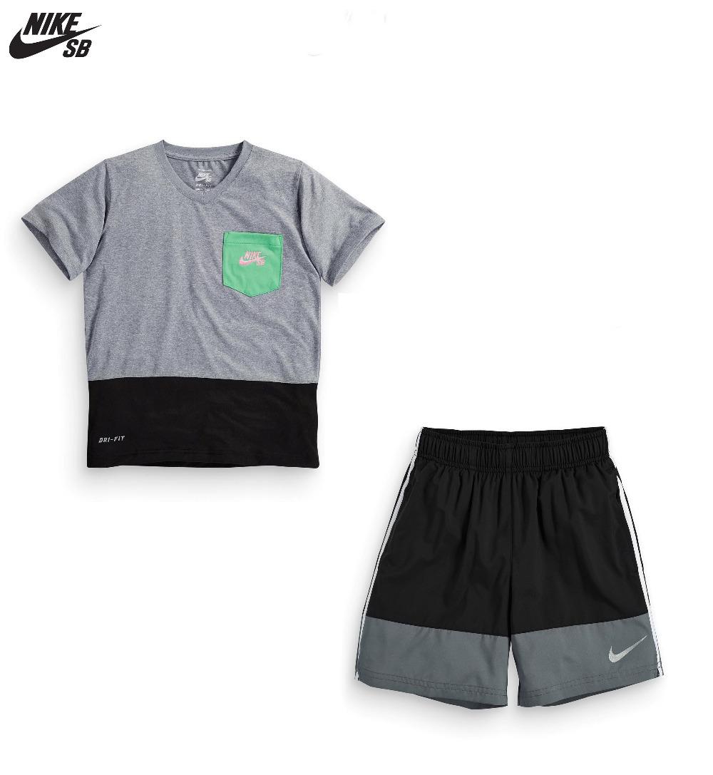 1 set retail!2015 new Kids clothes boys Fashion brand sport clothes Baby Boys sports T-shirt + shorts pants sets Free Shipping(China (Mainland))