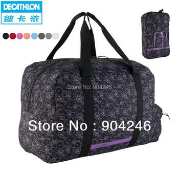 Freeshipping DECATHLON sports bag shoulder bag men and women large-capacity portable folding bag fashion bag NEWFEEL