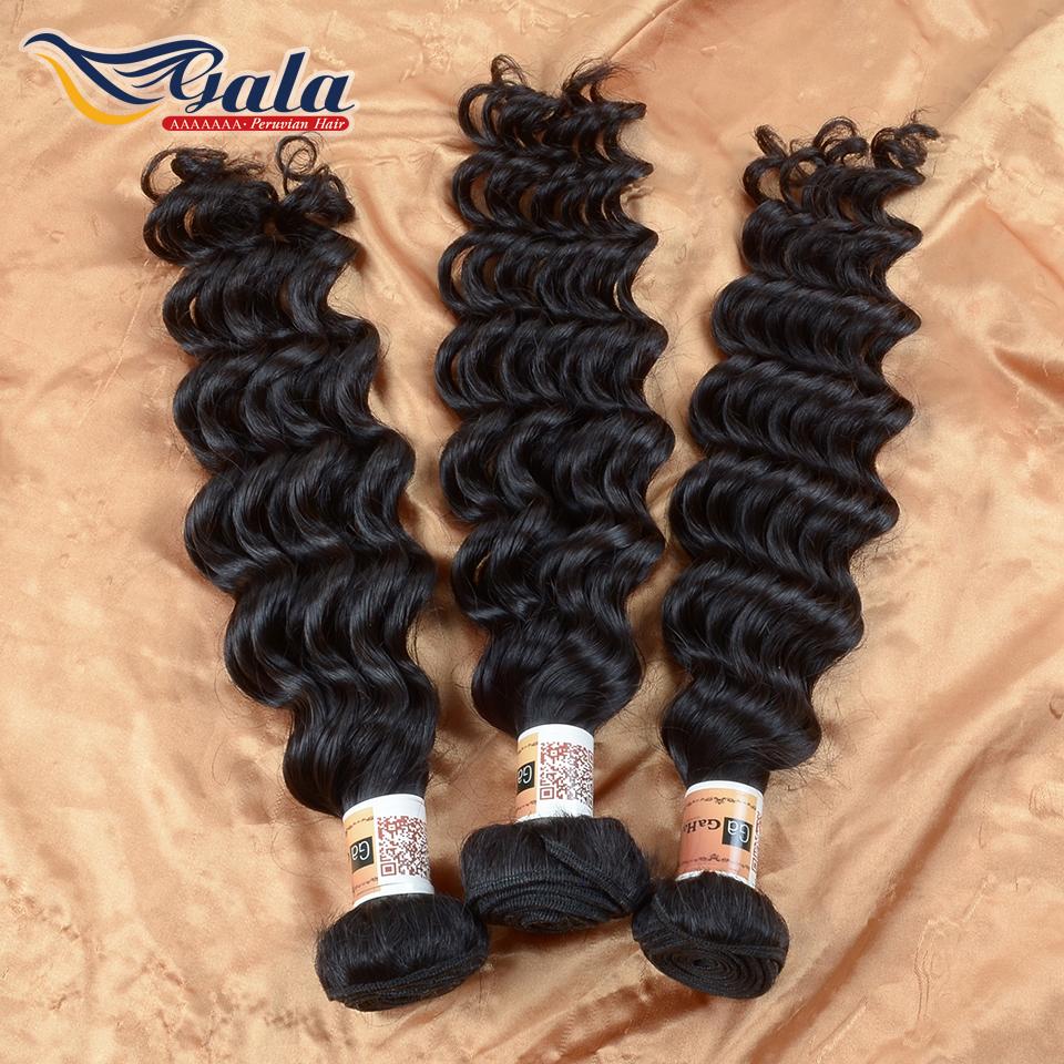 Peruvian Virgin Hair Deep Wave Peruvian Hiar Bundles Weaves 3 Bundles Unprocessed Deep Curly Hair(China (Mainland))