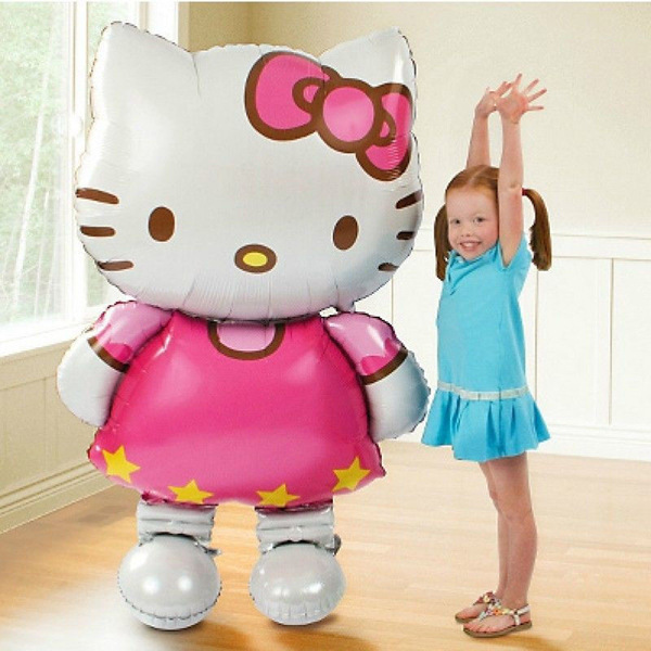 New large size Hello Kitty Cat foil balloons cartoon birthday decoration wedding party inflatable air balloons chilrden toys(China (Mainland))
