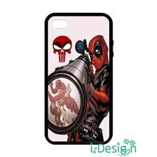 Fit for iphone 4 4s 5 5s 5c se 6 6s plus ipod touch 4/5/6 back skins cellphone case cover deadpool the punisher skull