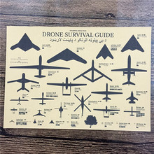 """New arrival RZA-235 Vintage kraft paper """"Drone survival guide"""" pictures for wall poster home decor decorative painting 42×30 cm"""