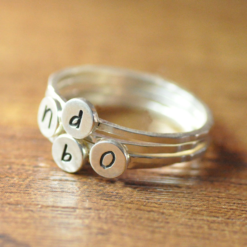 aliexpress buy sterling silver custom initials stack