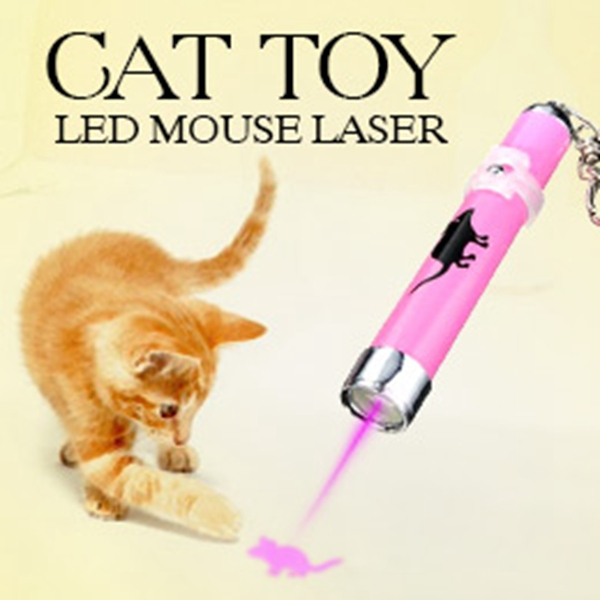 Creative Funny Pet Cat Toys Portable LED Laser Pointer light Pen With Bright Animation Mouse Shadow for Cat Toy Color Random(China (Mainland))