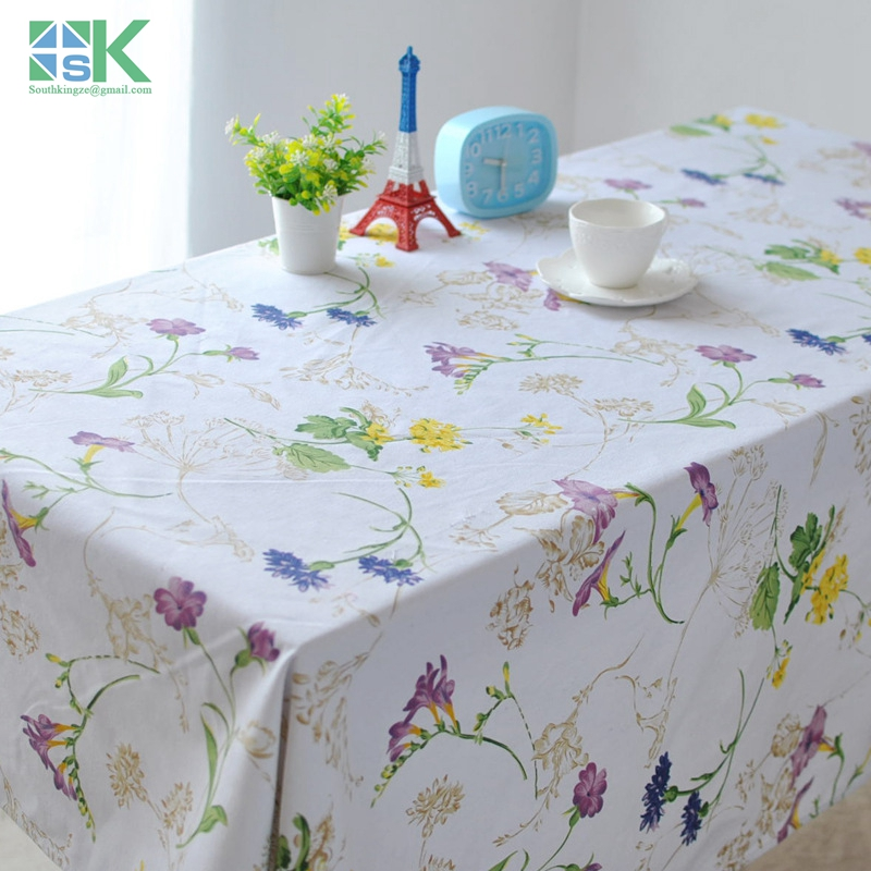 2016 new new Modern European style Pastoral cotton canvas table cloth tablecloths coffee table fresh flower vine drape round(China (Mainland))