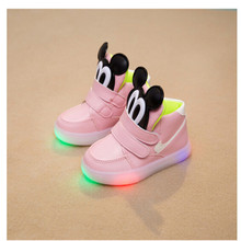 2015 autumn shoes fashion trend of the lamp children shoes cartoon breathable single shoes rubber sole 888(China (Mainland))
