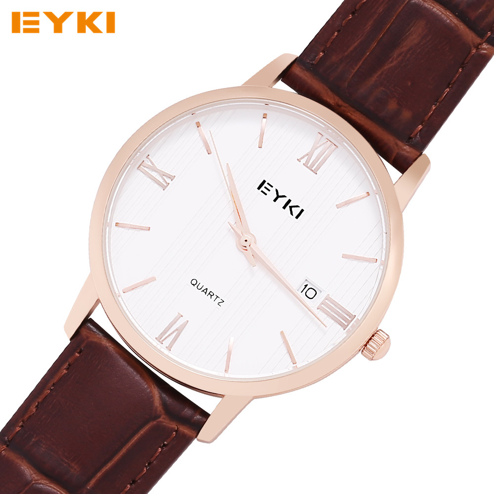 EYKI Lovers Watches TOP Brand Luxury Casual Leather Couple Quartz-Watch Horloges Vrouwen Wrist Watches For Men Women Watch 2016(China (Mainland))