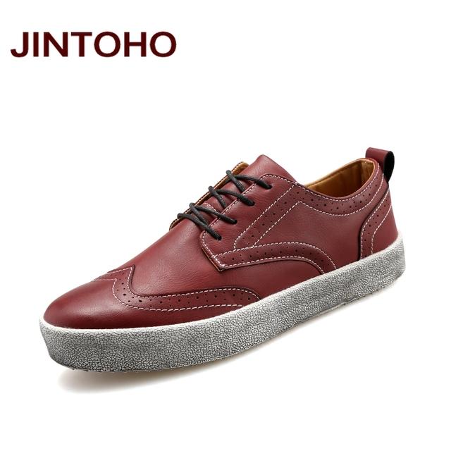 Jintoho увеличение высоты платформы лифт мужской обуви мода мужские кожаные мокасины ...