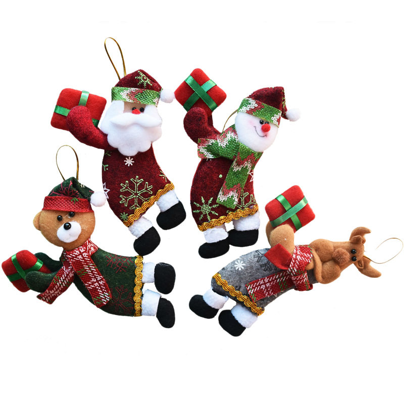 Buy 4pcs lot santa dolls gifts pendant for Decoration 4 christmas