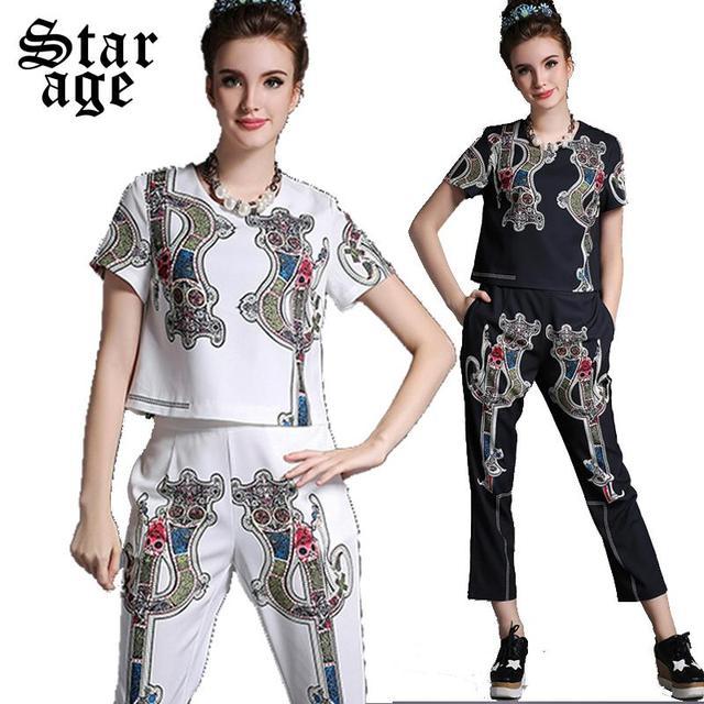 S-5xl женские брюки костюм бренд Большой размер лето леди Twinset брюки большой размер ...