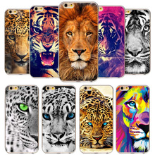 Buy Case Apple iPhone 7 6 6s Case 7Plus 5 5s SE Soft Silicone TPU Animal Tiger Lion Phone Bag Cover Back Cases Capa Coque Fundas for $1.53 in AliExpress store