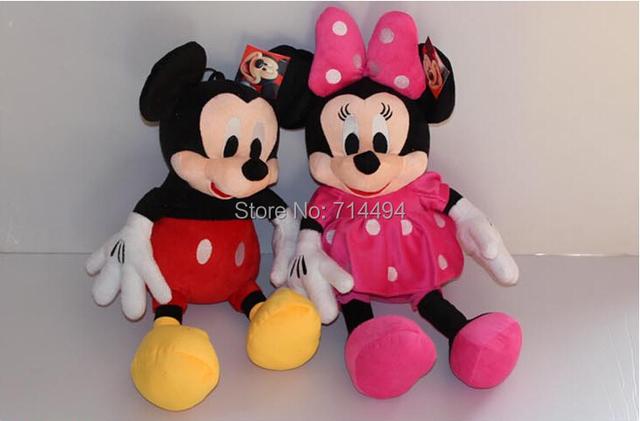 2 шт./лот 28 см минни и микки маус супер плюшевые куклы мягкие игрушки плюшевые игрушки для детей подарок