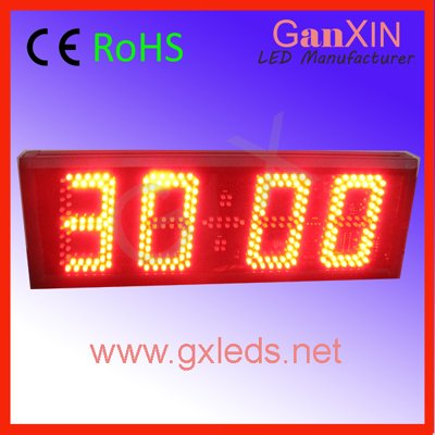 led 4digits 6inch red high quality aluminum frame small semi-outdoor alibaba express large countdown clock timer(China (Mainland))