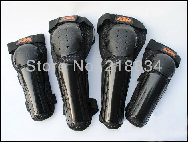 Free Shipping New Ktm 4pcs pair Motorcycle Bike SUV brace knee elbow