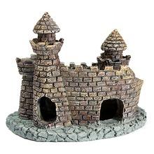 1 unids venta al por mayor acuario castillo ornamento torre del castillo casa camarón cueva decoración del arte(China (Mainland))