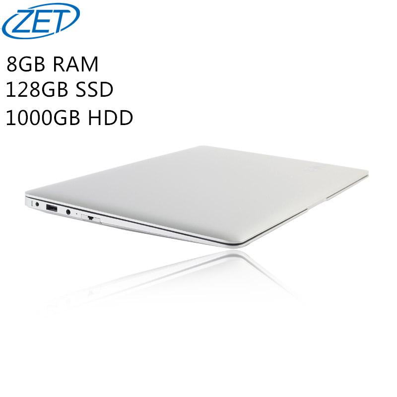 8GB Ram+128GB SSD+1000GB HDD Ultrathin Quad Core J1900 Fast Running Windows 8.1 system Laptop Notebook Computer, free shipping(China (Mainland))