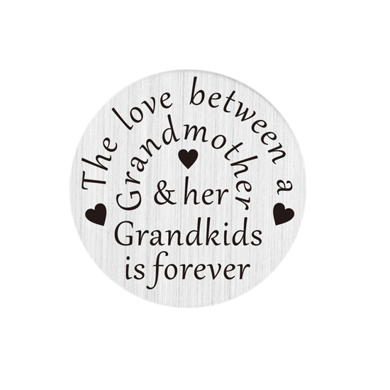 Wholesale 22mm stainless steel grandmother love grandkids floating locket plate(China (Mainland))