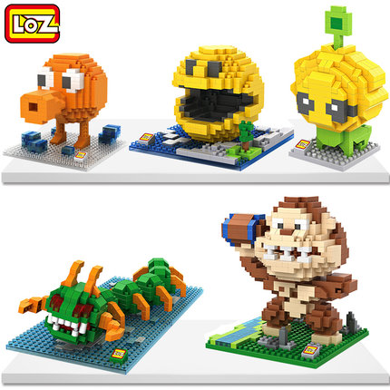 LOZ Building Blocks Minifigures 3D Mini Diamond Pixels Nano Figures Bricks Toys Pacman Qbert Children Educational Toy - Keny Kingdom Co.,Ltd store