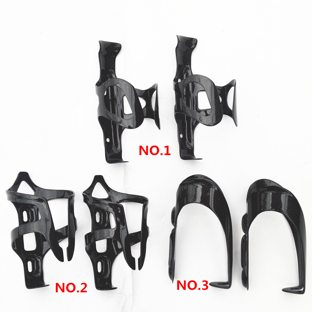 2pcs/lot full carbon bike bottle cages Bicycle Accessories Bicycle Bottle Holder mountain bike parts 3k finish