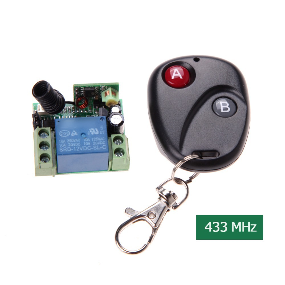 New Universal Wireless Remote Control Switch DC12V 10A 433MHz Telecomando Transmitter with Receiver(China (Mainland))