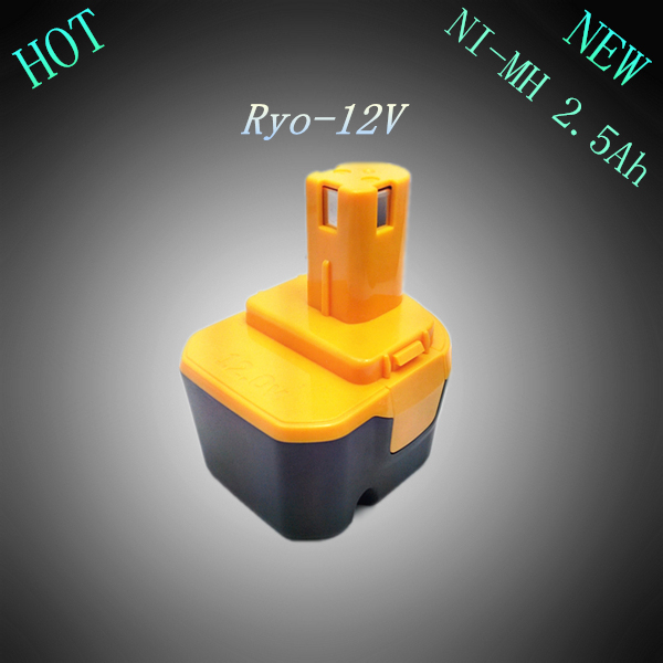 New 12V NI-MH 2.5Ah Replacement Power Tool Rechargeable Battery for Ryobi 4400005 B-8286 BPT1025 RY-1204 1400652B 1400670 FL1200(China (Mainland))