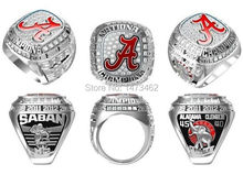 Buy High 2015 Alabama Crimson Tide NCAA Football National Championship rings fans best gifts size 11 for $7.92 in AliExpress store