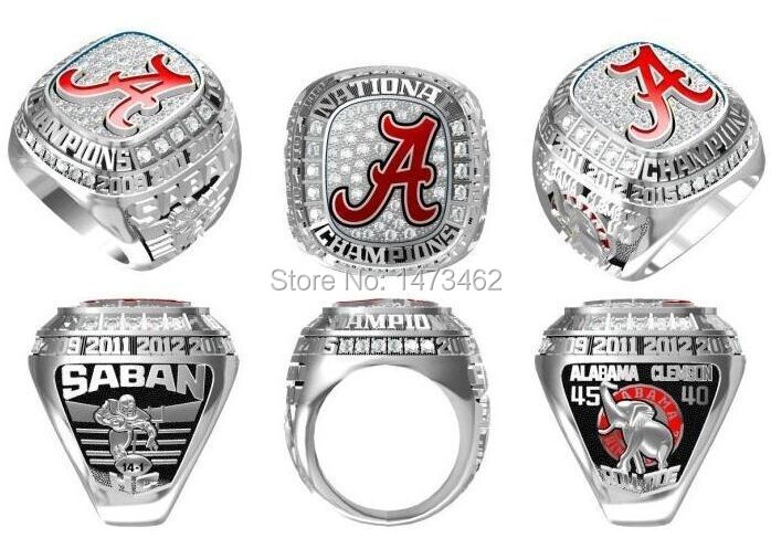 High Quality 2015 Alabama Crimson Tide NCAA Football National Championship rings for fans best gifts size 11(China (Mainland))