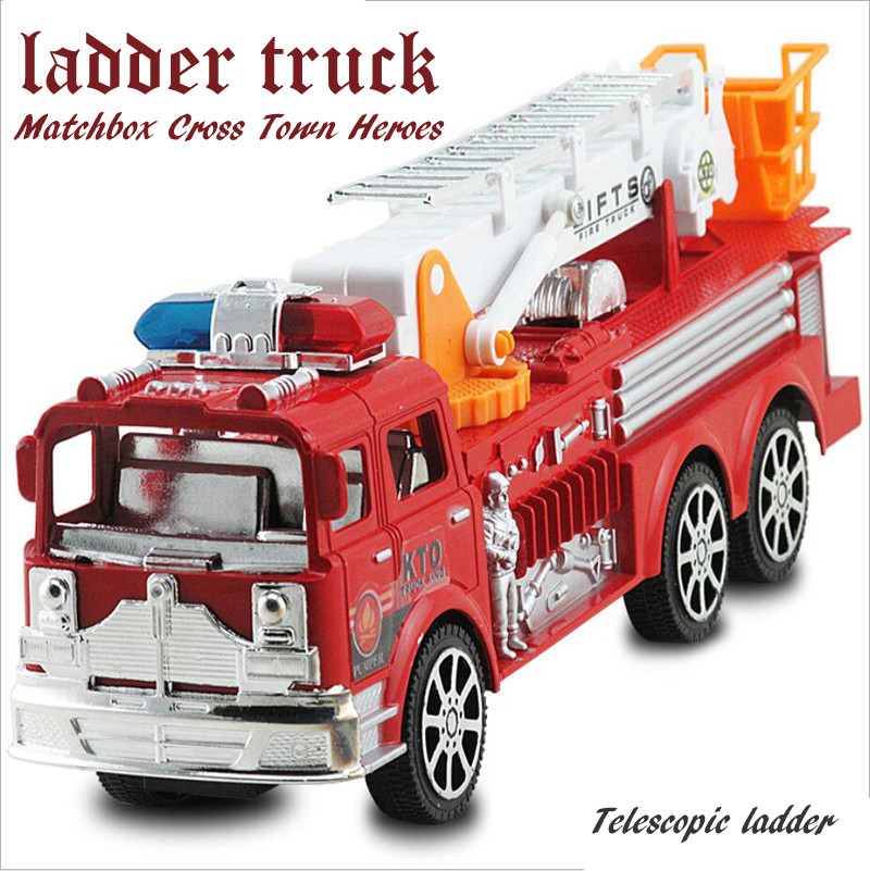 2016 New simulation fire truck ladder model kids toys Children's toy car large inertia great gift car toys for children(China (Mainland))
