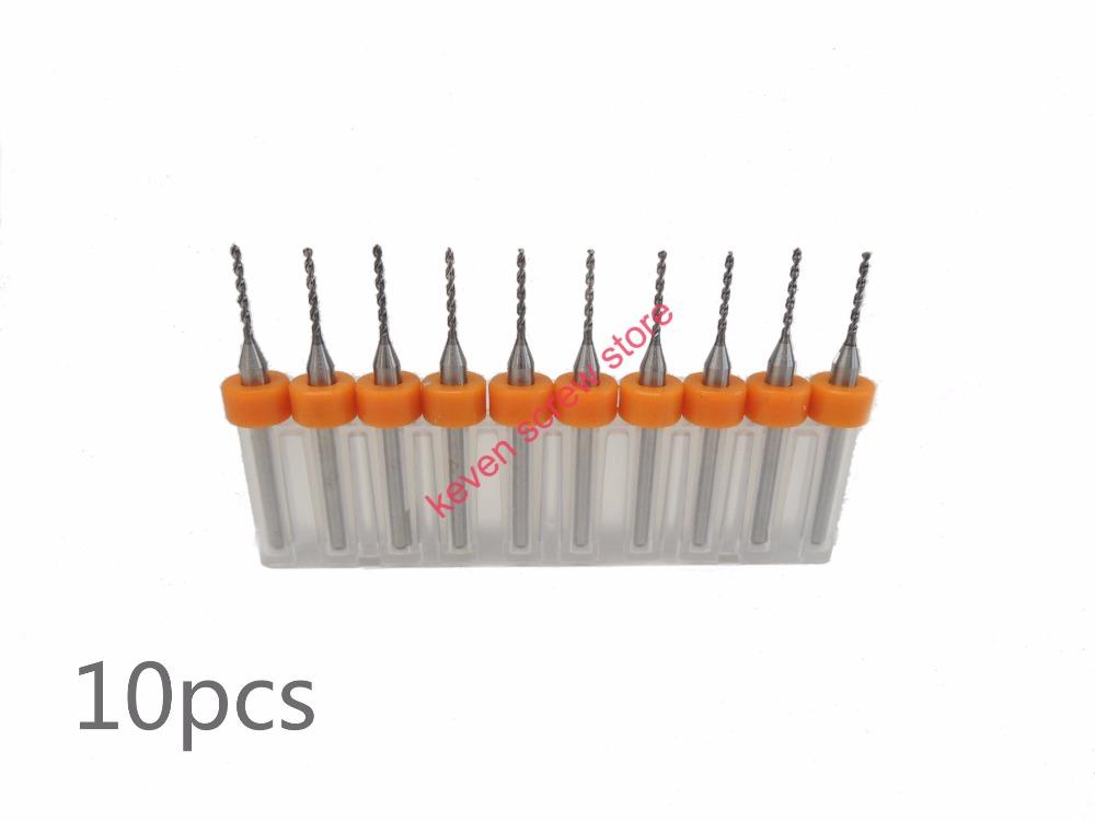 Freeshipping 10pcs Set 0 65mm High Quality Hard Alloy PCB Print Circuit Board Carbide Micro Drill