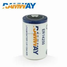 5pcs lot 3 6v lithium battery 1 2aa er14250 Ramway 1200mAh