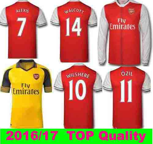 Top quality 2016 2017 arsenales Men soccer shirts 16 17 camiseta de foot Fast Shipping in 1-2 days(China (Mainland))