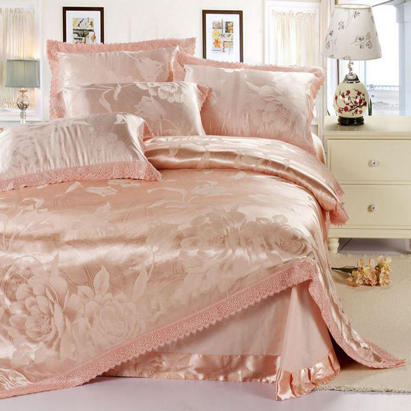 Popular Pink Satin Duvet Cover Buy Cheap Pink Satin Duvet