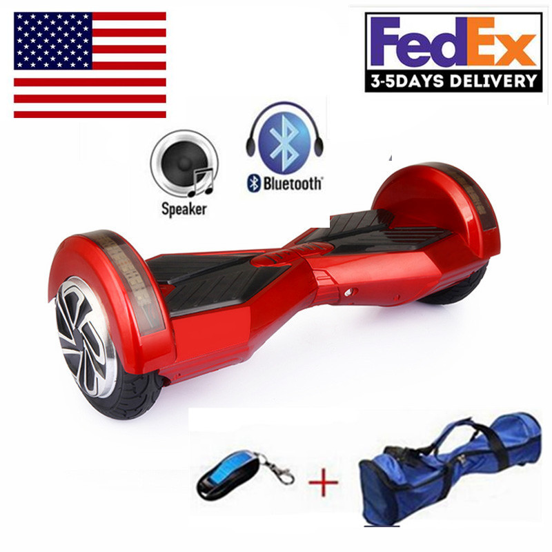 8 inch Self Balancing Scooter Electric Skateboard Two Wheel LED Scooters Electric hoverboard bluetooth speaker remote(China (Mainland))