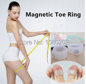 New! magnet lose weight new technology healthy slim loss toe ring sticker silicon foot massage feet loss weight reduce free ship(China (Mainland))