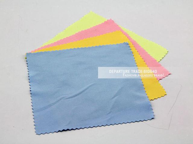 Красочные хлопок из микрофибры солнцезащитные очки ткань для чтения ткань для очистки очки чехол очки закупочная 100 шт./лот DT0079