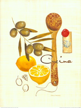 Cheap posters and prints of lemon and olive oil painting for Cheap prints and posters