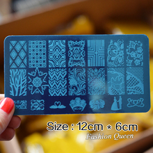 New Lace Flowers Nail Art Stamp Stamping Image Plate 10pcs lot 6 12cm Stainless Steel Nail