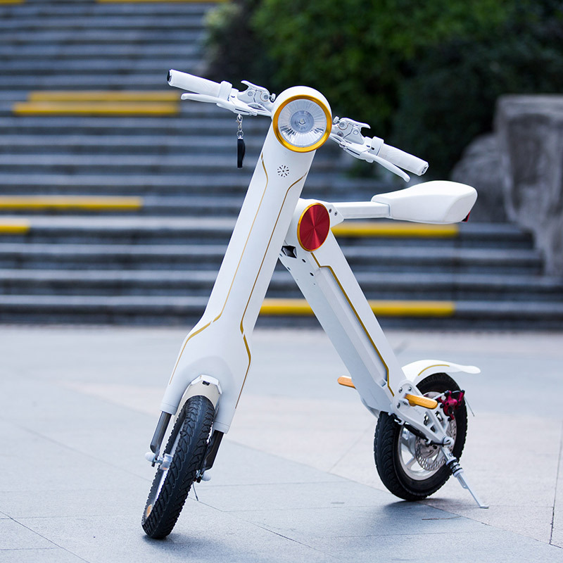 Bluetooth Speaker 36V/8.8AH Lithium Battery Lightest Electric Scooter Electric Mini Bike Folding Electric Vehicles(China (Mainland))