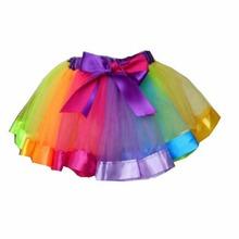 2016 New  1-3Years old Baby Girl Rainbow Skirt  Baby Kids Girls Tutu Skirt (China (Mainland))