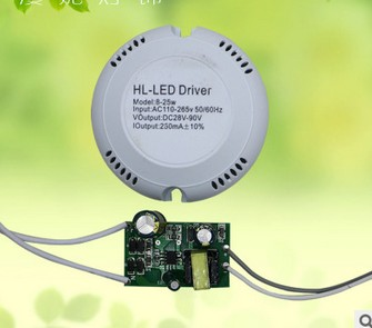 High efficiency 300mA 8-25W Led Driver 8W/10W/12W/14W/16W/18W/20W/24W/25W Power Supply AC 180V~260V 220V for Ceiling Lamp(China (Mainland))