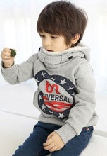 Children's Winter Pullovers Boys Hoodies Long Sleeve Autumn Girls Jacket Coat Children Hoodies 2-6yrs Free Shipping(China (Mainland))