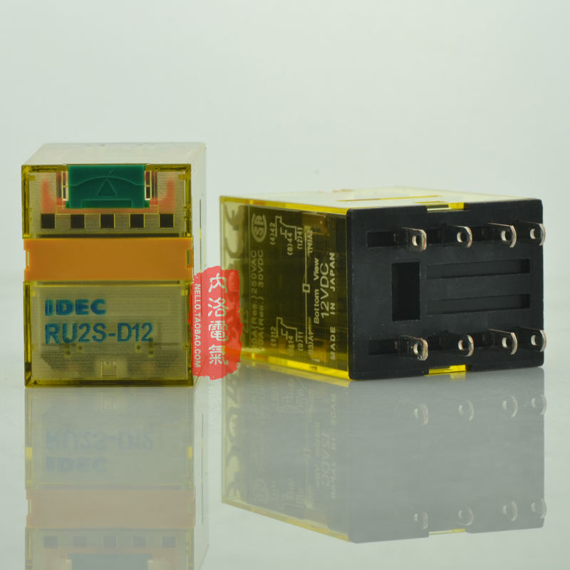 [SA]Japan and the spring IDEC relays with latch lever 10A RU2S-D12 DC12V 2a2b--10pcs/lot(China (Mainland))